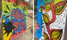 Dundee street artist Pammie Bennet has painted two new murals outside the Wellgate Centre.