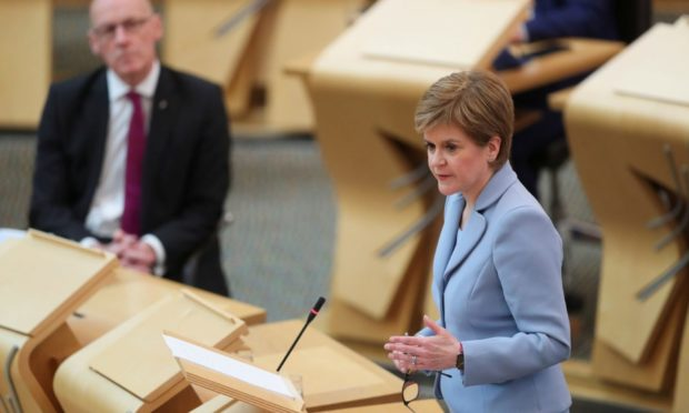 First Minister Nicola Sturgeon during First Minister's Questions