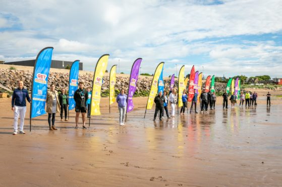Organisations gathered at Carnoustie to promote the summer scheme.