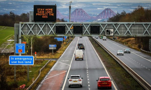 The accident occurred on the M90 close to junction two.