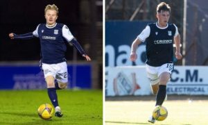 Dundee youngsters Lyall Cameron (left) and Josh Mulligan are going out on loan.