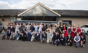 The Warddykes Primary School pupils dressed up for their prom.