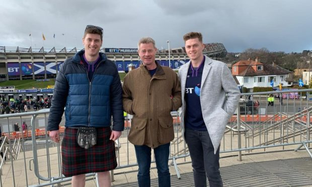 From left: Martyn, Karl and Darren Falconer.