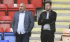 Dundee United sporting director Tony Asghar with head coach Tam Courts.