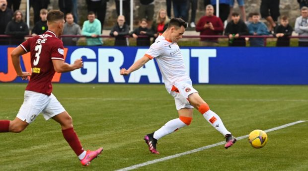 Dundee United hitman Lawrence Shankland starts after scoring the winner in their last match at Kelty Hearts.