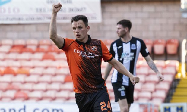 Lawrence Shankland is again amongst the goals for Dundee United.