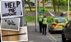 Residents say they do not feel safe at Adamson Court, Lochee.