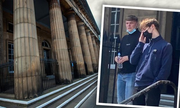 Gary Dobbin and Robin Green at Perth Sheriff Court.