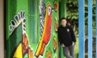 Artist Pamie Bennet spruces up Victoria Gardens pavilion with stunning new mural. Pictures: Gareth Jennings/DCT Media.