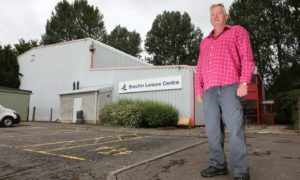 Brechin councillor Kenny Braes at the the town's old leisure centre. Gareth Jennings/DCT Media