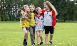 Friends Allie Barty, Abigail Wright, Blair Barty and Darcy Ross.