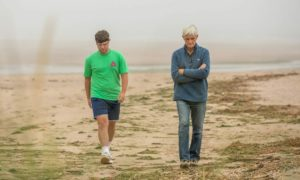 Owen Barron and Andrew Matthews, who helped to rescue six girls at Lunan Bay.