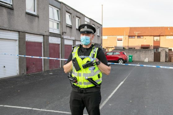 Police sealed off a street in Glenrothes on Monday evening.
