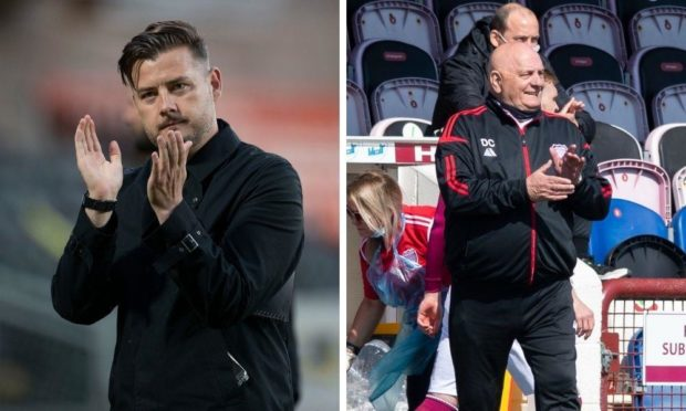 Dundee United boss Tam Courts has history with Arbroath manager Dick Campbell.