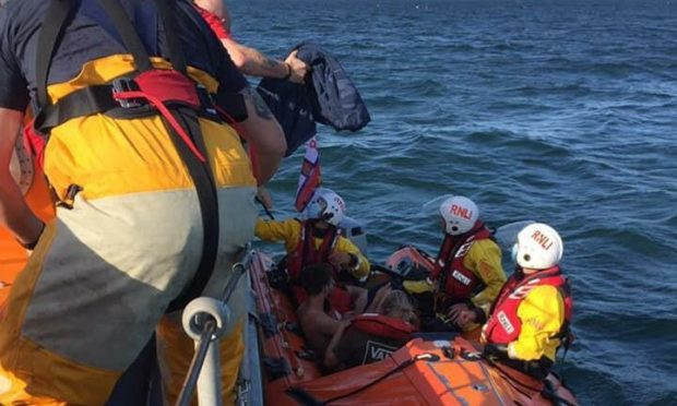 The Arbroath crew during Saturday's rescue