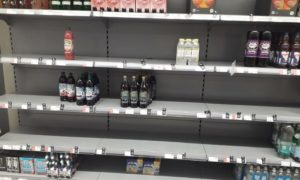 Many customers have reported empty shelves in several stores.