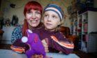 Mum Nicole Davies, 39, and six-year-old son Angus Davies.