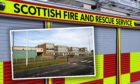An emergency response was triggered after a young girl was injured and trapped on the roof of a school in Fife.