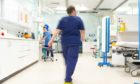 NHS staff on a hospital ward