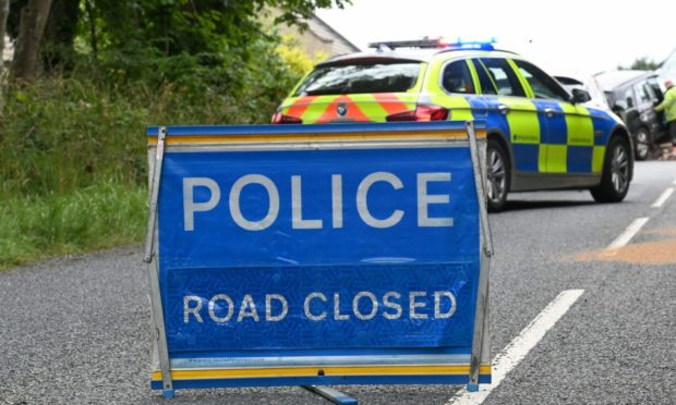 Police have closed the road in both directions after a three-vehicle crash on then A9 near Dunkeld.