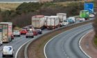 The work was planned for the M90 near Kelty.