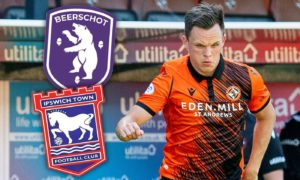 Dundee United star Lawrence Shankland is subject to a £500k bid from Belgian side Beerschot - with Ipswich also linked.