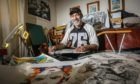 Gary Burley at his home studio in Carnoustie. Picture: Mhairi Edwards.
