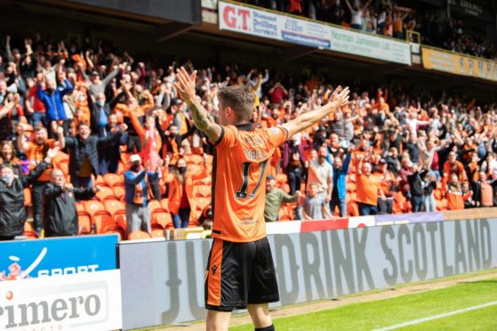 Jamie Robson signed off from his Dundee United career in style with the winning goal against Rangers