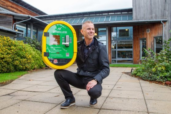 Neil Fairweather raised more than £5,000 to fund three defibrillators following the tragic death of his husband, Neil. Pic: Paul Reid.