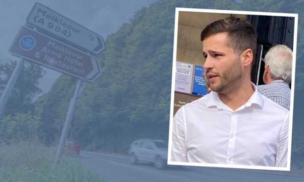 Aaron Shand caused a smash on a notorious A93 blackspot.