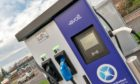 A ChargePlace Scotland site in Elgin.