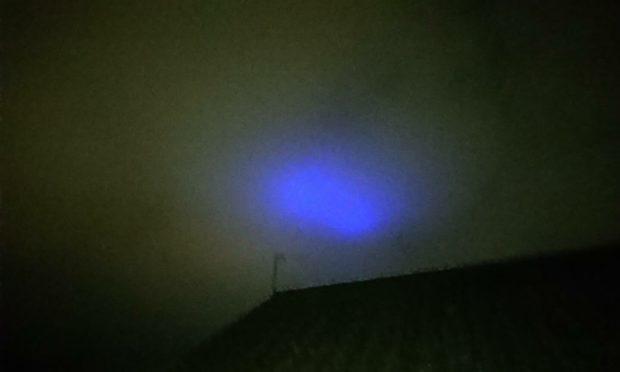 The lights were seen across Angus.