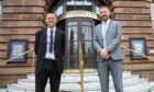 Evening Telegraph editor Dave Lord and The Courier editor David Clegg.