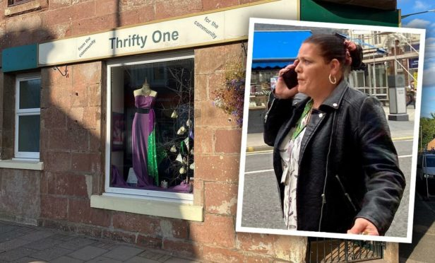 Mary McArthur coughed at charity workers at the Thrifty One shop in Alyth