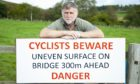 Campaigner Gus Leighton has paid for his own sign at what he claims is a dangerous junction.