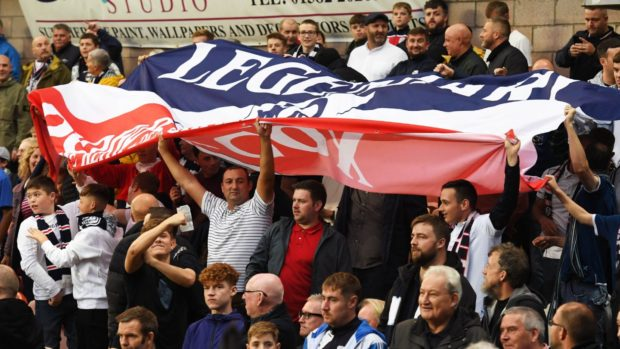 Dundee fans during a previous derby at Tannadice.