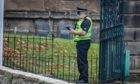 Police have been at the scene throughout the day in Dunfermline