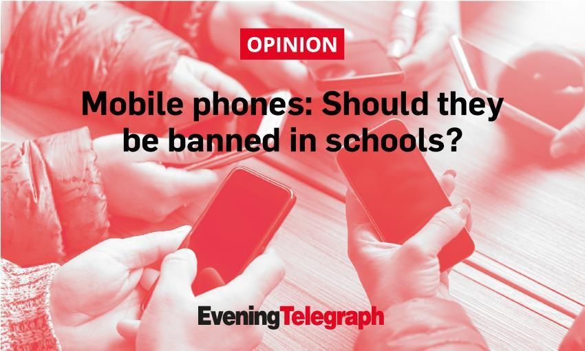 A ban on mobile phones in schools in England is being considered by the government.