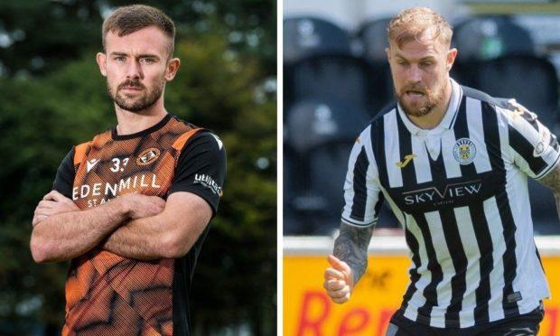 Dundee United defender Scott McMann and St Mirren man Richard Tait.