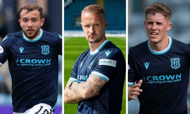 Paul McMullan, Leigh Griffiths and Luke McCowan.