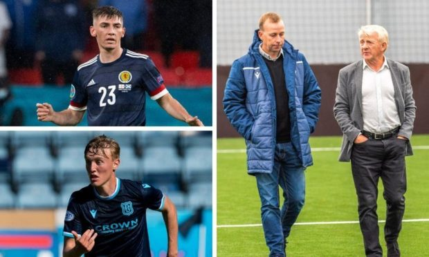 Billy Gilmour, Max Anderson, Stephen Wright and Gordon Strachan.