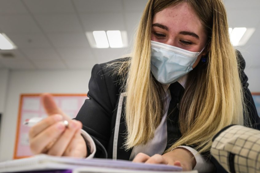 The number of pupils self-isolating continues to rise despite measures like face coverings.