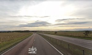 The road traffic crash happened north of Dundee.