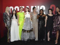 Cate Blanchett, Awkwafina, Sarah Paulson, Anne Hathaway, Sandra Bullock, Mindy Kaling, Helena Bonham Carter and Rihanna attend the world premiere of Ocean's 8 (Evan Agostini/Invision/AP)