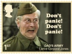 One of the eight Dad's Army stamps (Royal Mail)