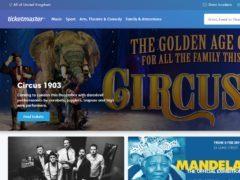 Screenshot of the Ticketmaster website (Ticketmaster/PA)