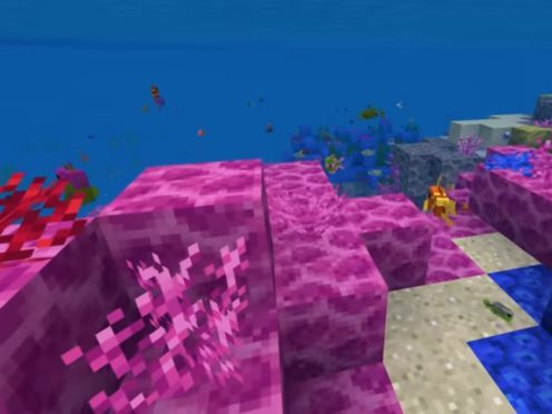 Coral Crafters gives Minecraft players a chance to build virtual underwater worlds with the aim of promoting the rebuilding of real-life corals. (Minecraft/YouTube screenshot)