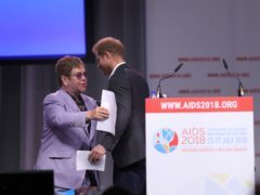 The Duke of Sussex and Sir Elton John launch a global coalition of Aids funders during the Aids 2018 summit in Amsterdam (Gareth Fuller/PA)