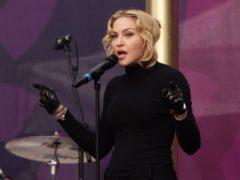 Madonna on stage (Yui Mok/PA)