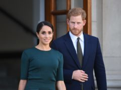 Harry will be accompanied by the Duchess of Sussex on Wednesday evening (Joe Giddens/PA)
